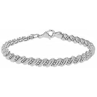 KJ Beckett Marco och pärla armband - Silver
