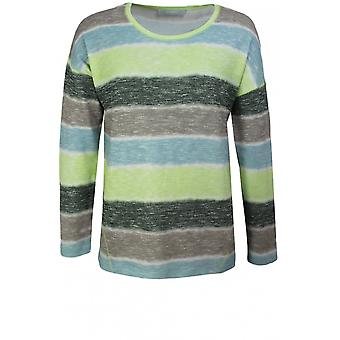 Bianca Lime Striped Jersey Knit Top