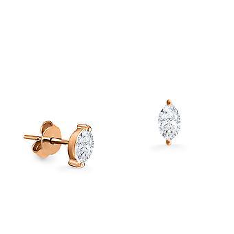 Korvakorut Stud Marquise 18K kulta ja timantti (yksiosainen)