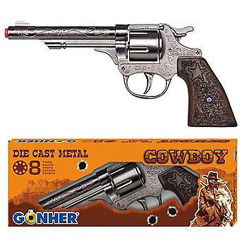 Gonher Diecast Metal 8 Bague tir pistolet de Cowboy