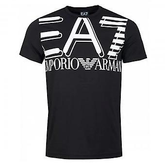 EA7 エンポリオ アルマーニ ロゴ クルー ネック T シャツ ブラック 3HPT09 PJ02Z
