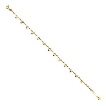 14k Gold Light Anklet +1 Inch 9 Inch Jewelry Gifts for Women - 3.3 Grams