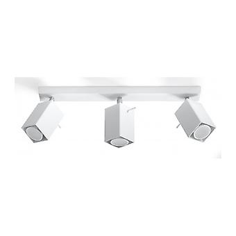 Merida Plafond Light White Steel 3 Ampoules