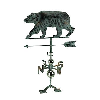 Beautiful Verdigris Finish Black Bear Weathervane With Roof Mount