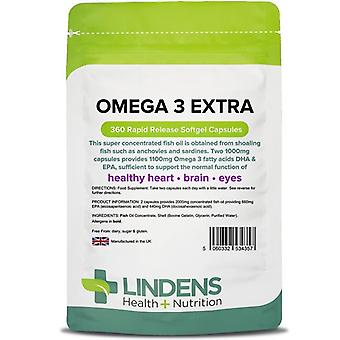 Lindens Omega 3 Fish Oil Extra Capsules 360 (4357)