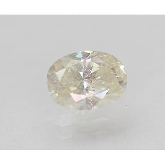 Certified 0.60 Carat I Color VS2 Oval Enhanced Natural Diamond 6.2x4.64mm