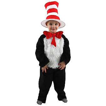 The Cat In The Hat Dr Seuss Deluxe Kid Girls Boys Costume