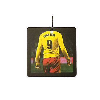 Custom Football / Soccer Player (Yellow Red) Car Air Freshener