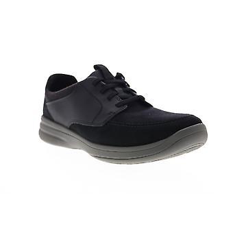 Clarks Stepstrolllace Herren Schwarz Wildleder Low Top Lifestyle Sneakers Schuhe