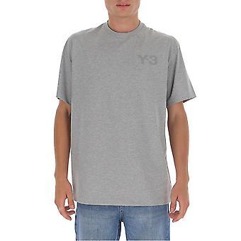 Y-3 Gk4505mgreyh Männer's grau Baumwolle T-shirt
