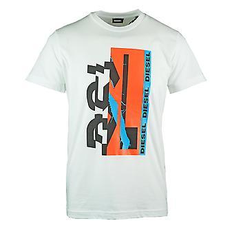 Diesel T-Diego-YA 80&s Graafinen Valkoinen T-paita