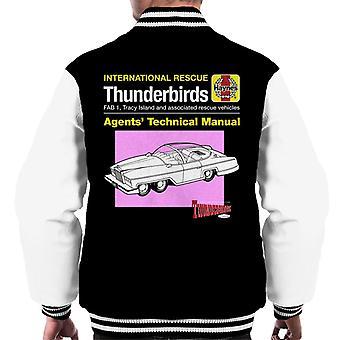 Thunderbirds Agenten Technisches Handbuch Fab 1 Men's Varsity Jacke