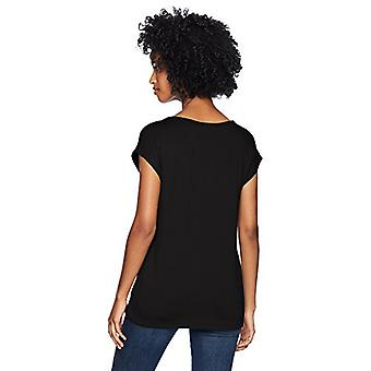 Brand - Daily Ritual Women's Supersoft Terry Muscle Tee, black, Large