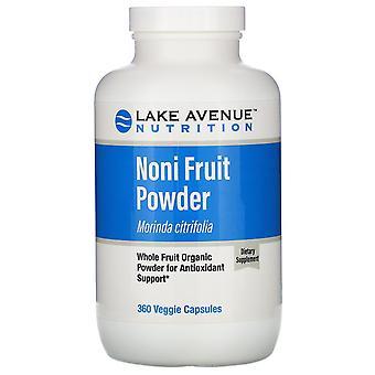 Lake Avenue Nutrition, Noni Fruit Powder, Organic Whole Fruit Powder, 360 Veggie