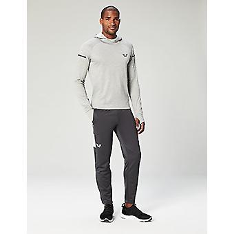 Peak Velocity Men's Trackster Athletic-Fit Pant, asfaltgrå/vit, Large