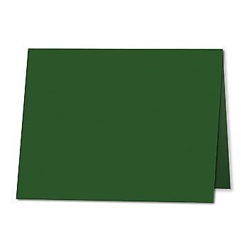 Dyb grøn. 100mm x 120mm. Sted kort. 235gsm Foldet kort Blank.