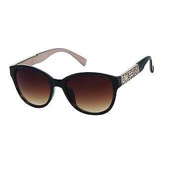 Sunglasses Unisex brown/panther with golden accent