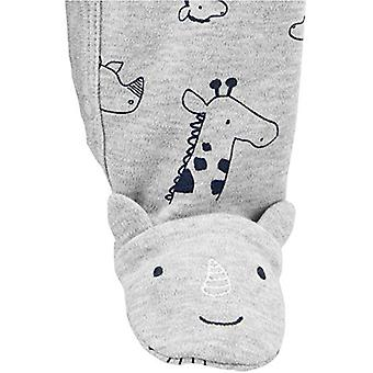 Simple Joys by Carter's Boys' 2-Pack Cotton Footed Sleep and Play, Animals Gr...