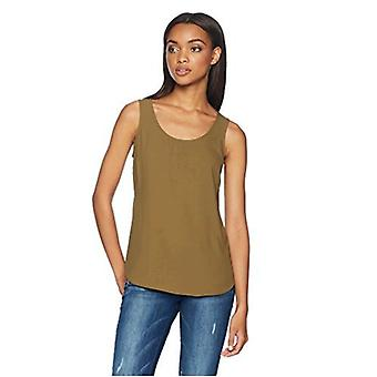 Brand - Daily Ritual Women's Shirt-Tail Scoop-Neck Sleeveless Shell