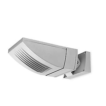 2 Light Outdoor Fluorescent Wall Light Grey IP65