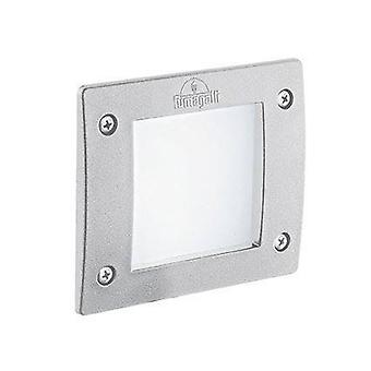 LED 1 Luce Quadrato Esterno Recessed Bianco Chiaro IP66