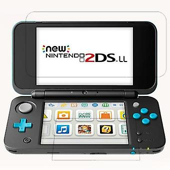 Glazen nieuwe 2ds Xl Ll 2dsxl 2dsll 2 Ds Up + Down Screen Protector Game Console