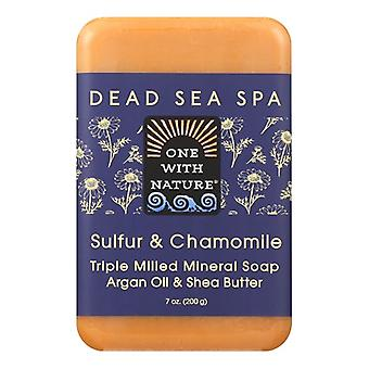 One With Nature Dead Sea Spa Sulfur & Chamomile Mineral Soap