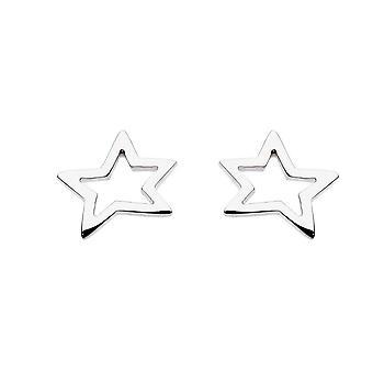 שטרלינג כוכבים כסף לילה פתוח עגילי כוכב פתיחה 4053HP