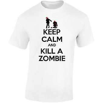 Keep Calm And Kill A Zombie Mens T-Shirt 10 Colours (S-3XL) by swagwear