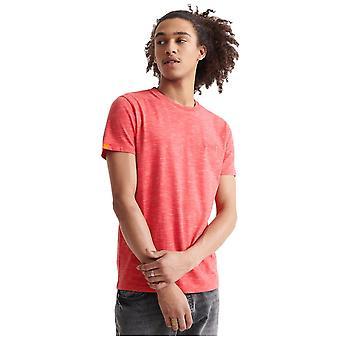 Superdry Orange Label Vintage Brodé T-Shirt - Maldive Pink Space Dye