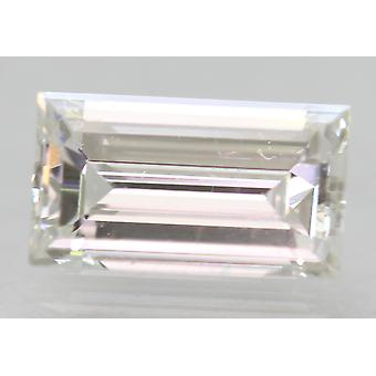 Zertifiziert 0.91 Carat D VVS2 Baguette Enhanced Natural Loose Diamond 7.62x4.28mm