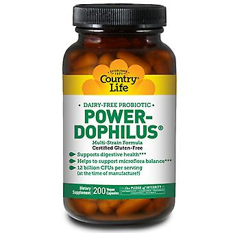 Country Life Power-Dophilus Vegetarian, 200 Caps