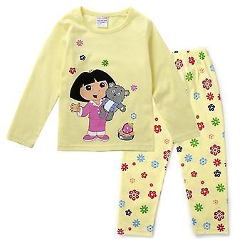 Meisjes kleding, Mickey, Minnie Print, Lange Mouw Pyjama - Kids Outfits Set-2