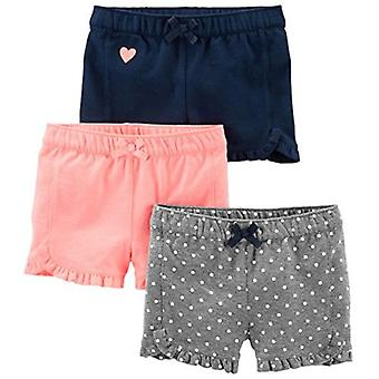 Semplici gioie di Carter's Baby Girls' Toddler 3-Pack Knit Shorts, Pink.Gray, Na...