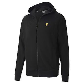 2020-2021 Borussia Dortmund FtblFeat Jeu Hooded Jacket (Noir)