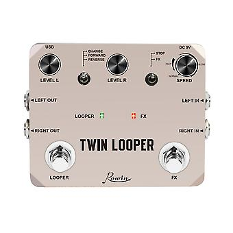Rowin Twin Looper Station - Effekt Pedal For Elektrisk Gitar