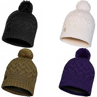 Buff Unisex Savva Chunky Fleece Lined Knitted Warm Winter Bobble Beanie Hat
