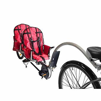 Twins Bicycle Trailer With Connector, Air Wheel Steel