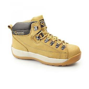 Grafters M434n Unisex Nubuck Leather Safety Boots Honey