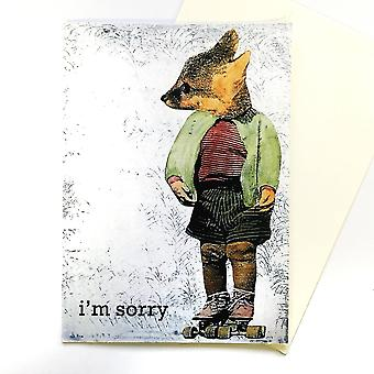 I'm Sorry- Fox Apology Card