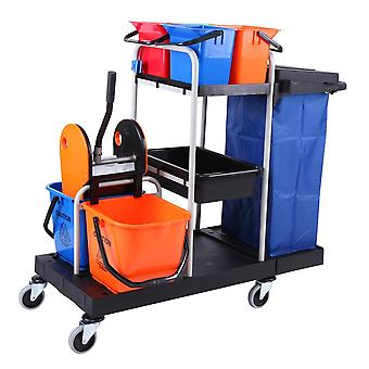 Multi-function Trolley Cleaning Hygienic Vehicle Tool, Hotel Service Car Bucket