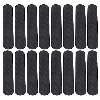 16pcs 18x3CM Anti Curling Rug Gripper Sticker for Floors Carpet Black