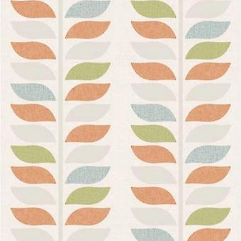 Vinyl Modern Tree Leaf's Striped Wallpaper Grandecor
