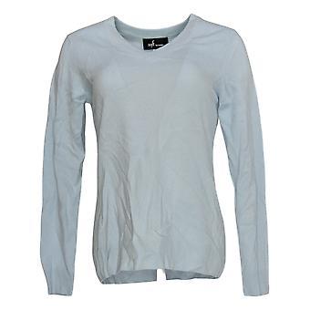 Soft by NAADAM Women's Sweater 100% Cashmere Essential V-Neck Blue A370915