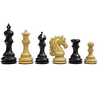 "Der Kavallerie-Serie Schachfiguren Ebenholz 4,5"""