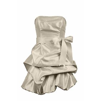 Strapless Metallic Taffeta Dress