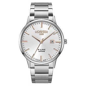 Roamer 718833 41 15 70 R-Line Classic Silver Tone Wristwatch