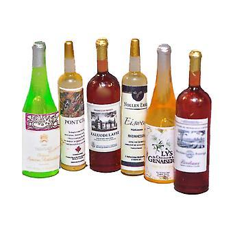 Poppen Huis selectie van wijnflessen miniatuur bar pub eetkamer accessoire