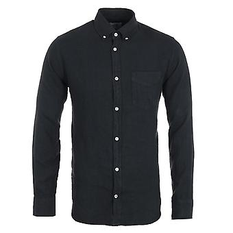 NN07 Levon Linen Shirt - Navy