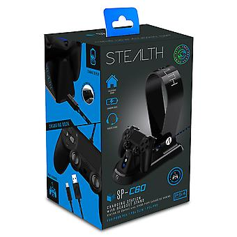 STEALTH SP-C60 Black Charging Station with Headset Stand for PS4